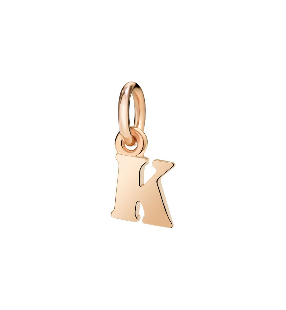 DoDo Letter K in 9k Rose Gold