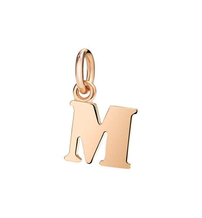 Dodo Letter M Charm in 9k Rose Gold