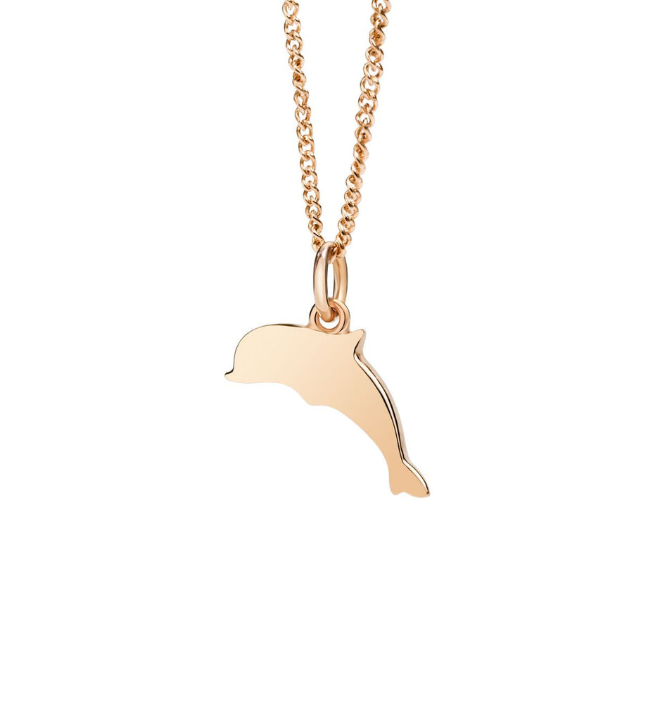 "Dodo Petit Rose Gold Dolphin Charm ""Forever Companions"""