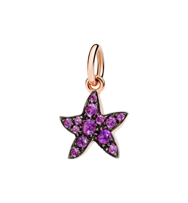 DoDo Star in 9k Rose Gold with Amethyst