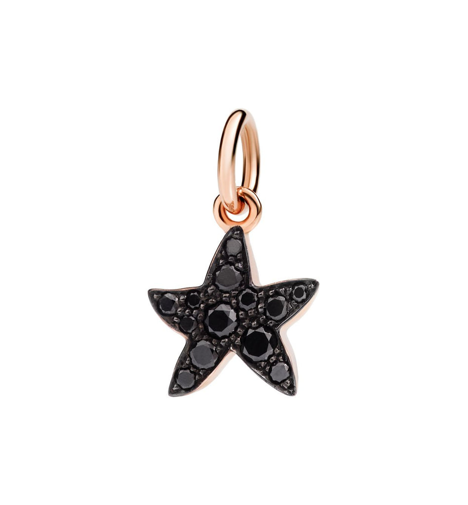 "Dodo Black Diamond Starfish Charm ""Handle with care"""