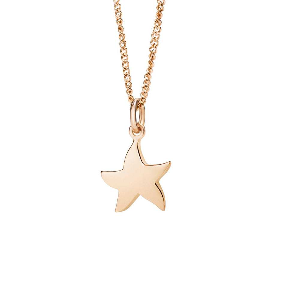 "Dodo Petit Rose Gold Starfish Charm ""Handle with care"""