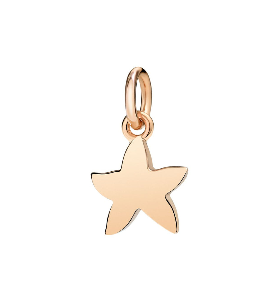 "Dodo Rose Gold Starfish Charm ""Handle with care"""