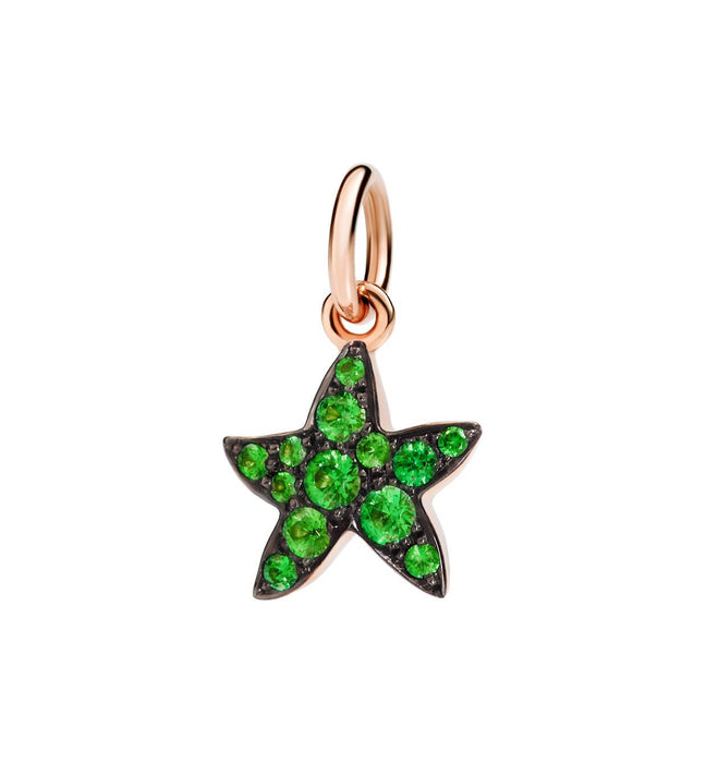 DoDo Star in 9k Rose Gold with Tsavorites