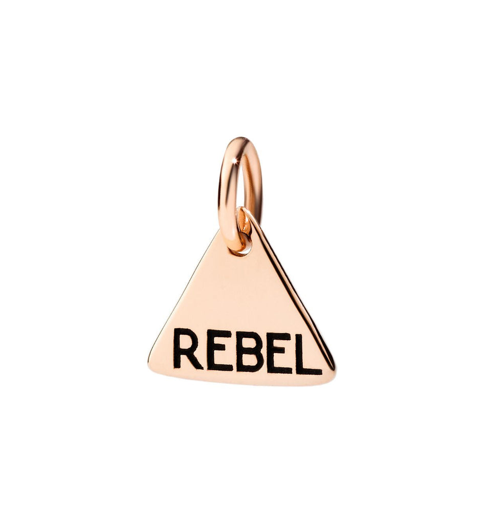 Dodo Charm Tag Rebel in 9k Rose Gold