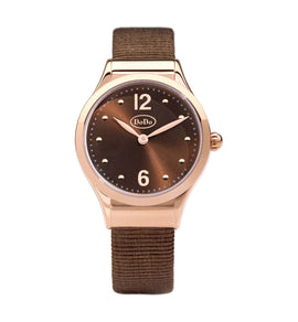 Dodo Chocolate & Rose Gold Watch