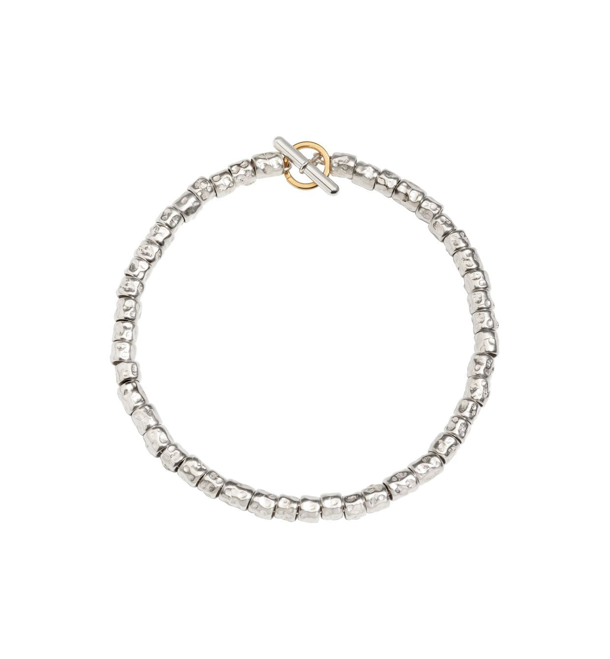DoDo Granelli Bracelet Kit in Silver with Yellow Gold Brise Ring - Orsini Jewellers NZ
