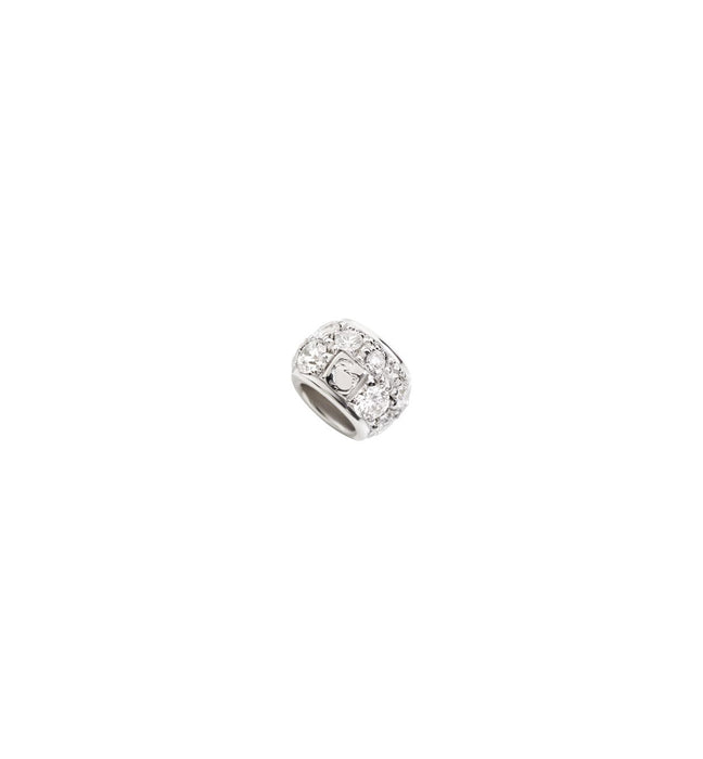 Dodo Ringlet in 9k White Gold and White Diamonds