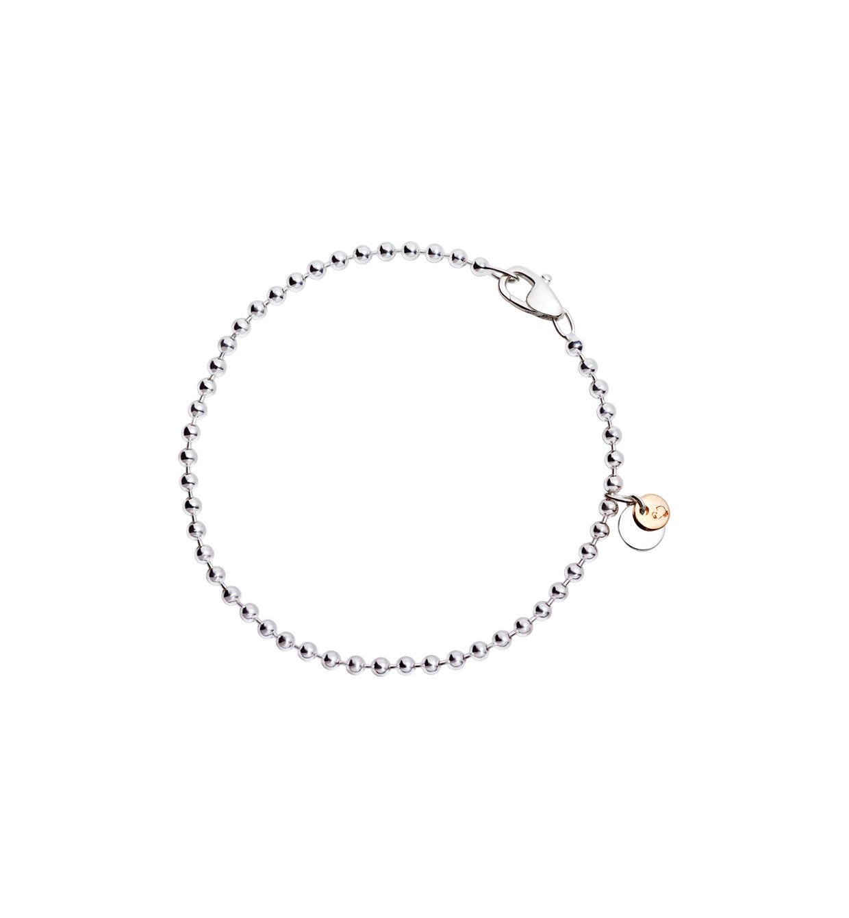 DoDo Bollicine Bracelet in Silver with Plaquettes in 9k Rose Gold and Silver - Orsini Jewellers NZ