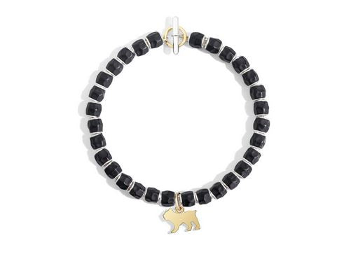 DoDo Granelli Bead Silver with Black Resin - Orsini Jewellers NZ