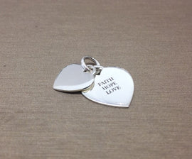St Cuthbert's Double Heart Sterling Silver Pendant