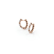 Palladio Hoop Earrings in 18k Rose Gold with Diamonds