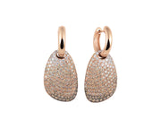 Dolce Vita Earrings in 18k Rose Gold with White and Brown Diamonds