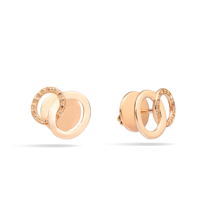 Brera Earrings in 18k Rose Gold with Brown Diamonds
