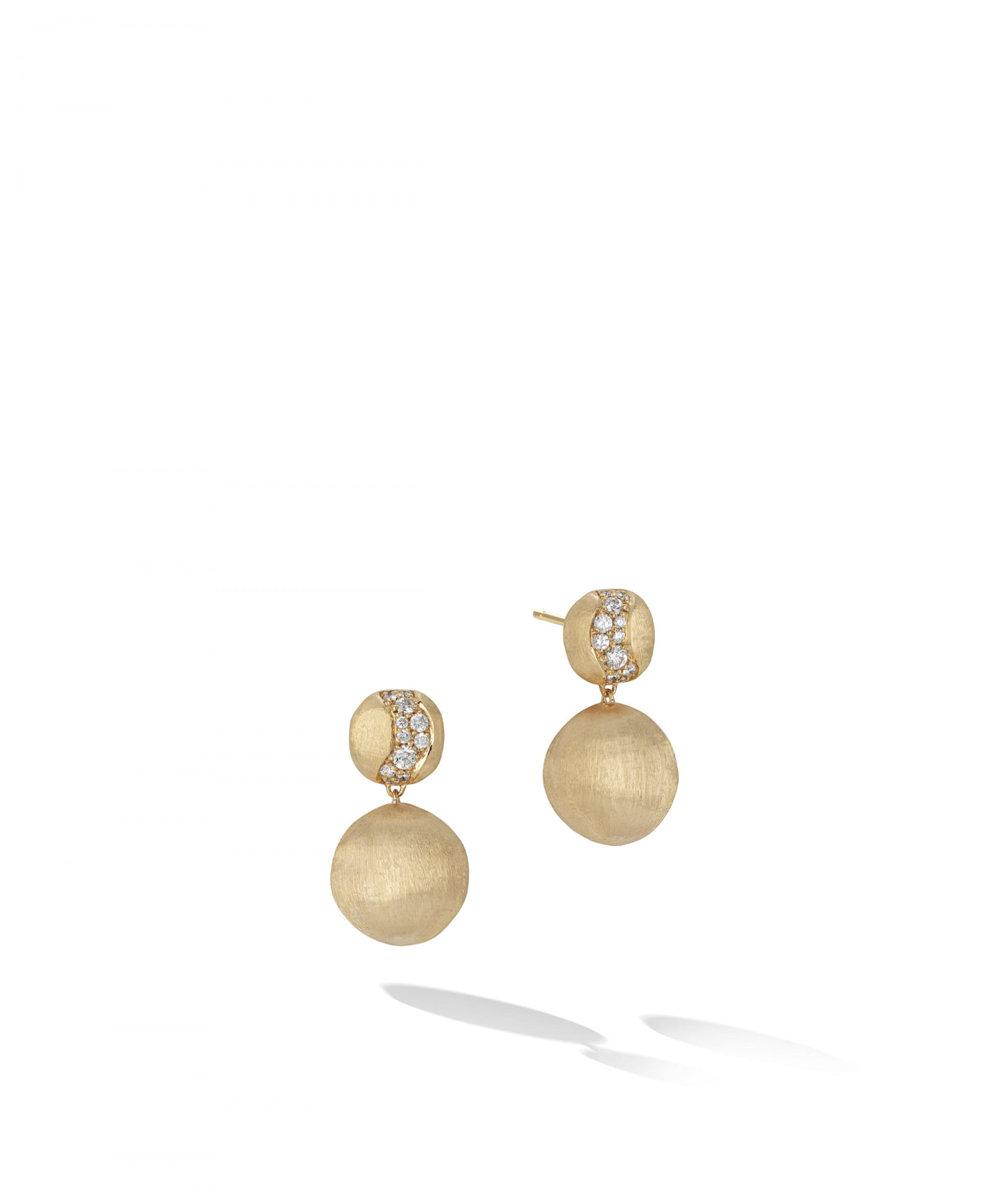 Africa Constellation Earrings in 18k Yellow Gold with Diamonds 2 Drop Chandelier - Orsini Jewellers NZ