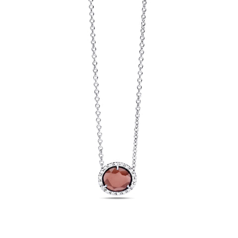 Colpo Di Fulmine Red Garnet and Diamond Necklace