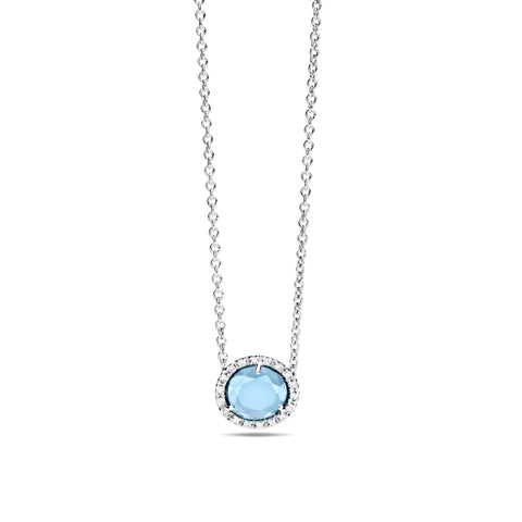Colpo Di Fulmine Blue Topaz and Diamond Necklace