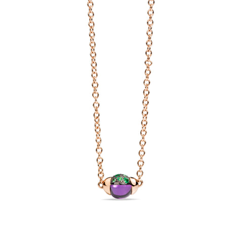 Mama Non Mama Amethyst Gold Necklace with Tsavorites
