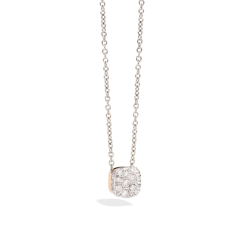 Chain in Rose Gold and White Gold with Diamonds ct 1,48