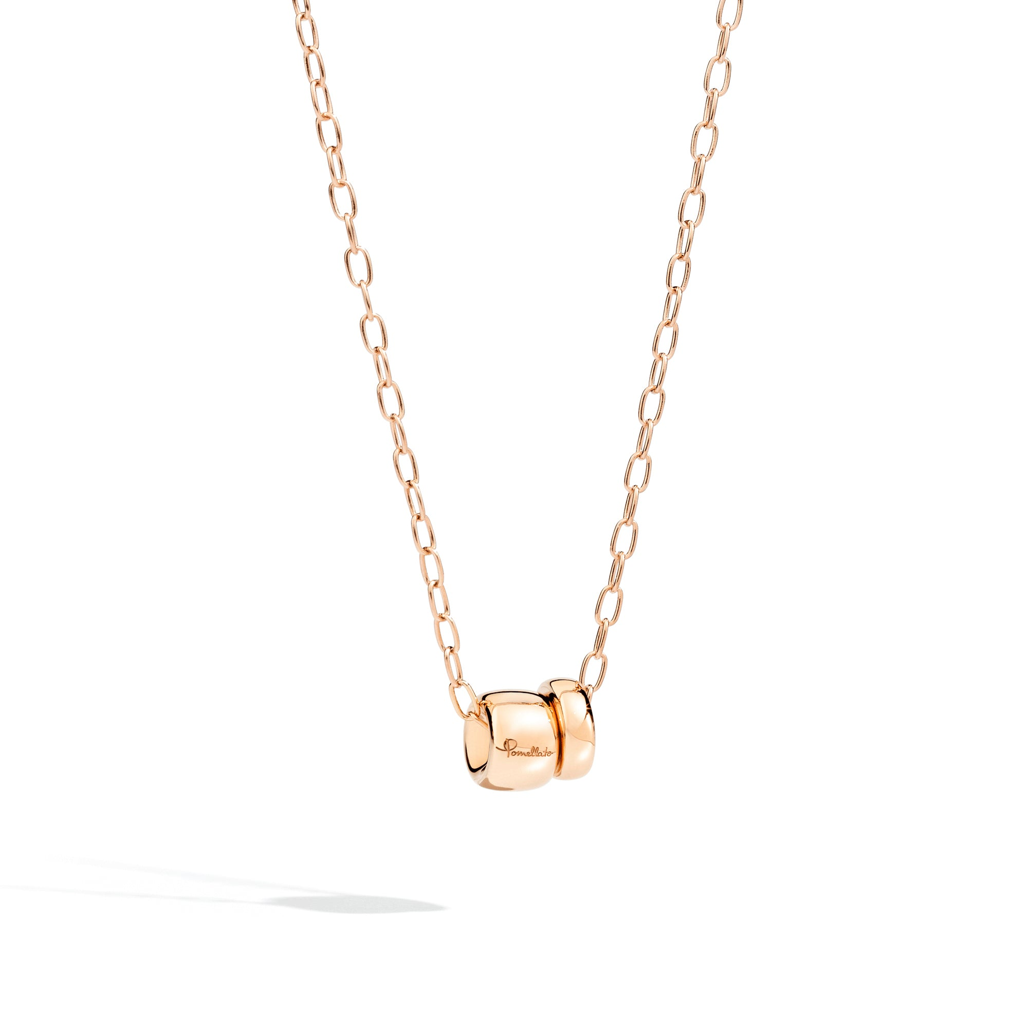 Iconica Necklace with Chain in 18k Rose Gold - Orsini Jewellers NZ