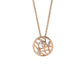Feng Shui 18k Rose Gold and Diamond Necklace