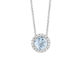 Fiji Blue Topaz and Diamond Necklace by Hulchi Belluni