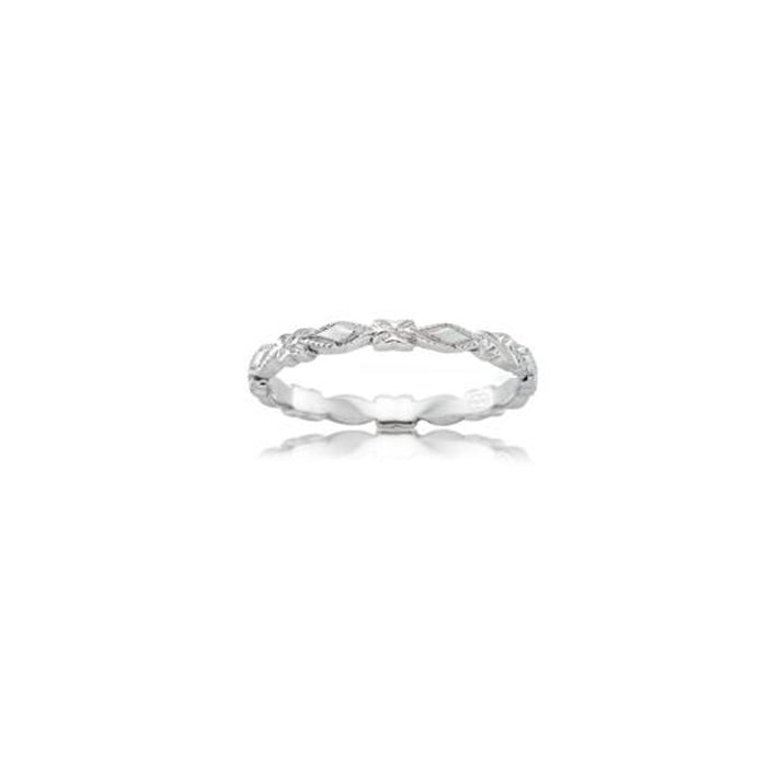 Fine Patterned Wedding Band - Orsini Jewellers NZ