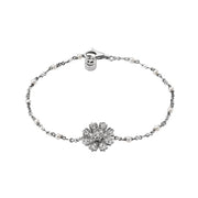 Flora Bracelet in 18k White Gold with Pearls and Diamonds