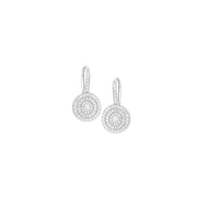 Foglio Earrings in 18kt Whit Gold with Diamond