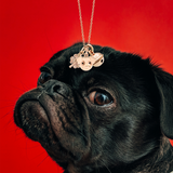 Dodo French Bull Dog Charm in 9k Rose Gold