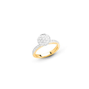 Funghetti 18k Yellow Gold & White Diamond Ring by Hulchi Belluni