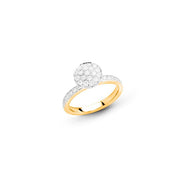 Funghetti 18kt Rose Gold Diamond Ring (Medium)