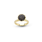 Funghetti 18kt Yellow Gold Black Diamond Ring