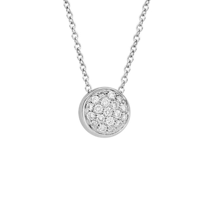 Funghetti Pendant in 18k White Gold with 0.40ct Diamonds