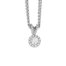 Funghetti Pendant in 18k White Gold with Diamonds