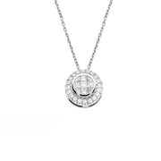 Funghetti Round Brilliant Diamond Necklace by Hulchi Belluni