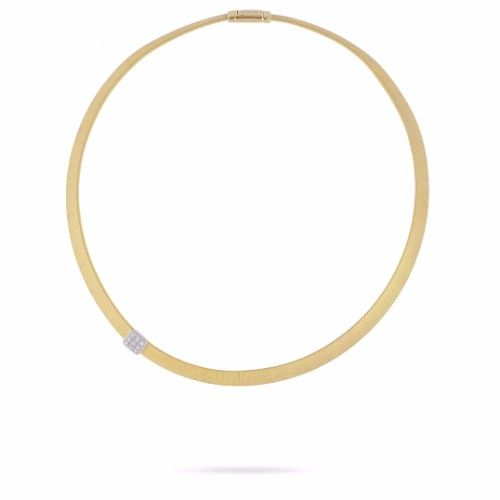 Masai Necklace in 18k Yellow Gold with Diamonds