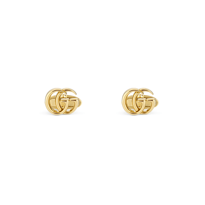 GG Running Yellow Gold Cufflinks