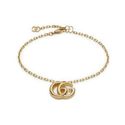 GG Running Bracelet in 18k Yellow Gold with Double G Charm