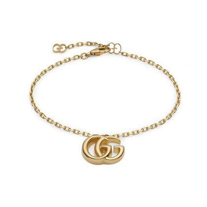 Gucci GG Running Bracelet in 18k Yellow Gold with Double G Charm