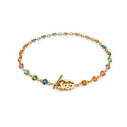 GG Running Bracelet in 18k Yellow Gold with Topaz, Quartz, Tsavorite, and Sapphire