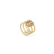 GG Running Ring in 18k Yellow Gold with diamonds