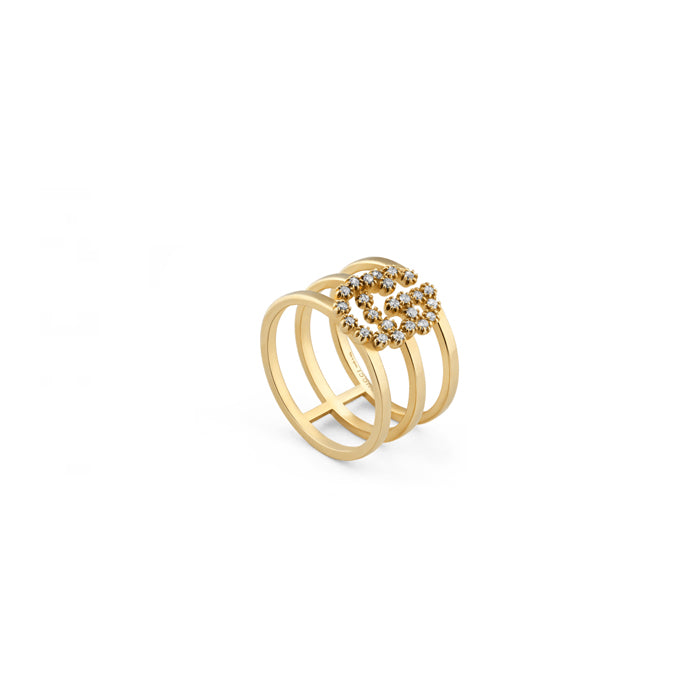 Gucci GG Running Ring in 18k Yellow Gold with diamonds