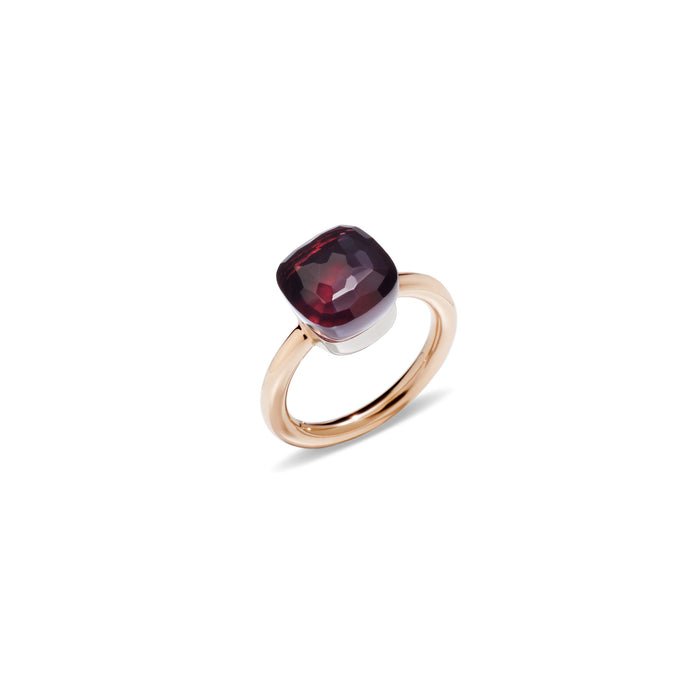 Nudo Classic Ring in 18k Rose Gold and White Gold with Garnet
