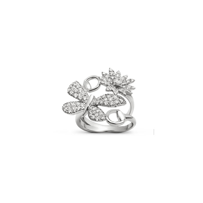 Gucci Flora 18kt White gold  diamond ring