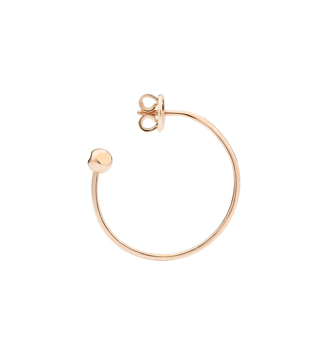 DoDo Bangle Hoop Earring in 9k Rose Gold (single) - Orsini Jewellers NZ