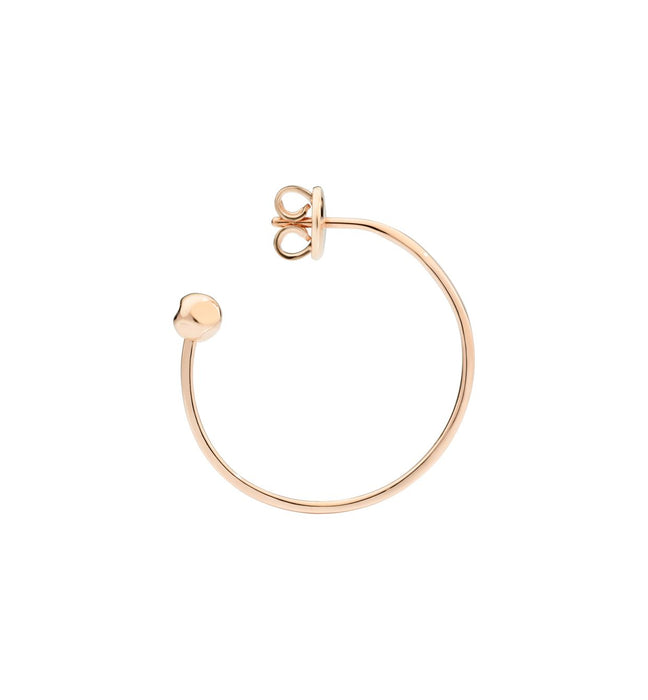 DoDo Bangle Hoop Earring in 9k Rose Gold (single)