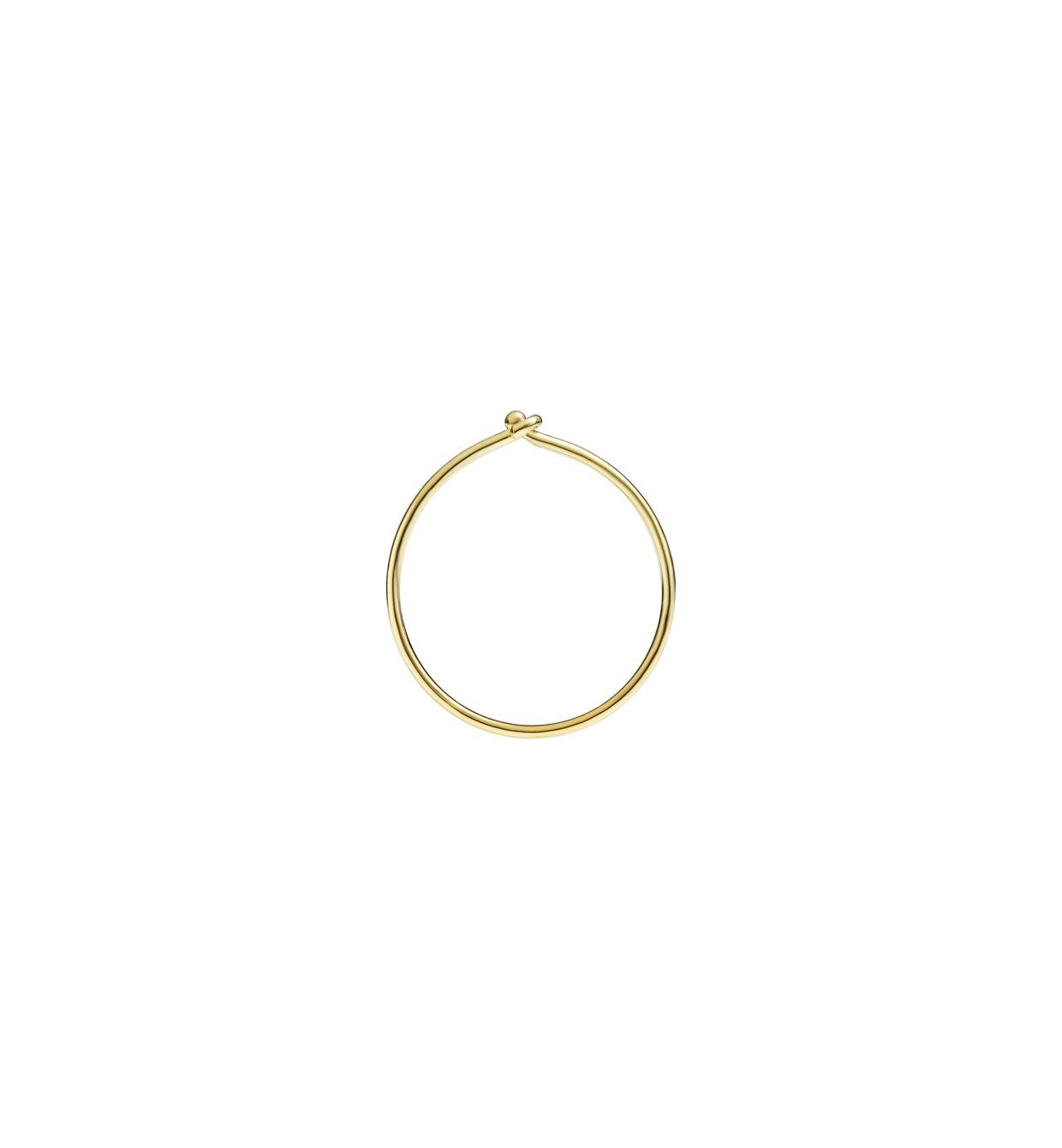 DoDo Bangle Hoop Earring in 18k Yellow Gold - small (single) - Orsini Jewellers NZ