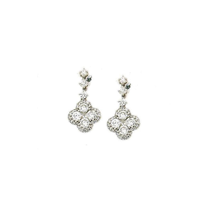 Hulchi Belluni 18k gold drop Privat Collection Diamond Earrings