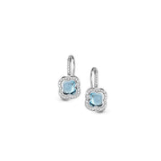 Hulchi Belluni 18kt gold topaz and diamond earrings